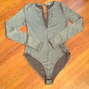 Sparking body suit long sleeves.